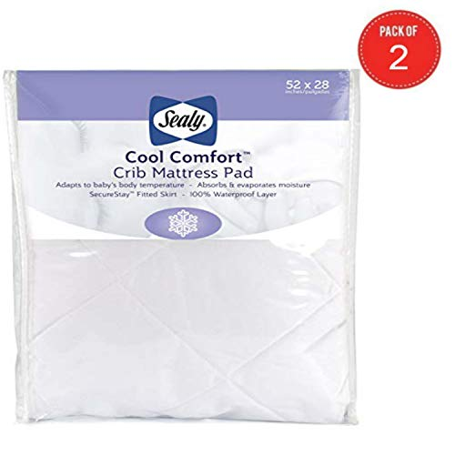 Sealy Cool Comfort Crib Mattress Pad - Pack of 2