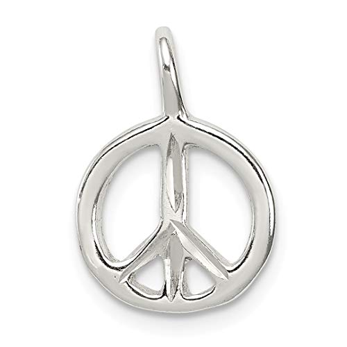 925 Sterling Silver Peace Pendant Charm Necklace Fine Jewelry Gifts For Women For Her ()