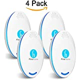 Fine Home Ultrasonic Pest Repellent Best Electronic Pest Repeller Plug in (4-Pack), Indoor and Outdoor Repellent Anti- Insects, Mice, Bugs, Mosquitoes Ants, Rats, Roaches, Rodents Pest Control