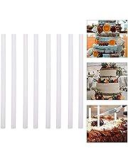 25 st tårtpluggar stänger, plast tårtstöd stavar, 0,4 tum diameter och 23,45 cm längd plast tårtstativ pinnar kaka runda pluggar sugrör för nivåerad tårta stapling stöd