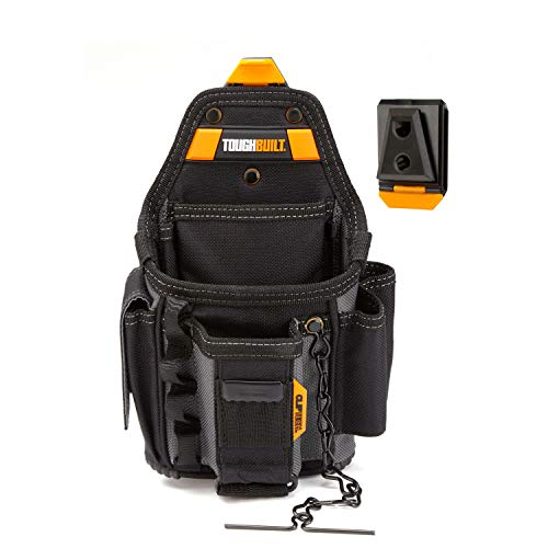 Toughbuilt Electrician ClipTech Pouch and Hub - 13 Pockets and Loops - Small