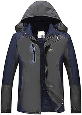 LGHOVRS Jacket Chaqueta Impermeable, Hombre Chaqueta ...