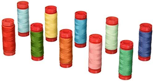 (Aurifil LH12PW10 Thread Set Premium Wool 12wt, 10 Small (54 yard) Spools - Bee in my Bonnet)