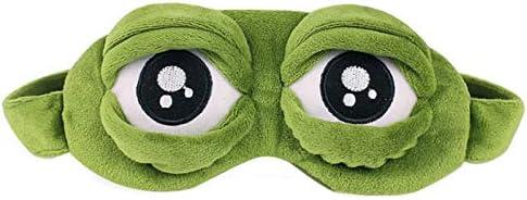 Juguete de Peluche 1 pc Adultos niños Triste Rana 3D máscara de Ojos Suave durmiendo Divertido Cosplay Felpa Relleno Juguetes para niños Trajes Accesorios bebé Regalos