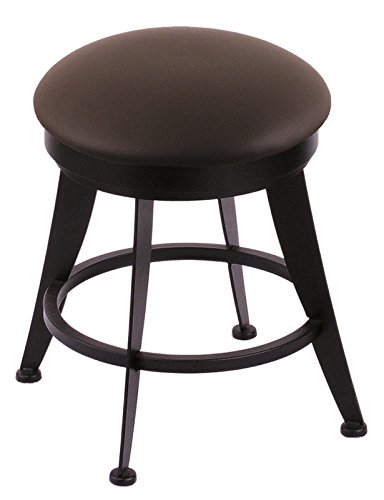 Holland Bar Stool Co. 900 Laser Vanity Stool with Black Wrinkle Finish and Swivel Seat, 18