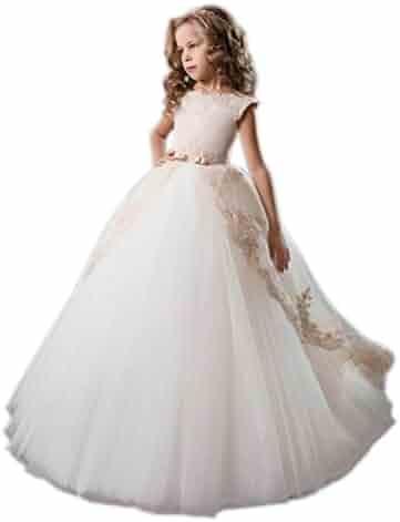 d6c738d09fb Aprildress Ivory Lace Flower Girls Dresses Vintage White First Communion  Dress