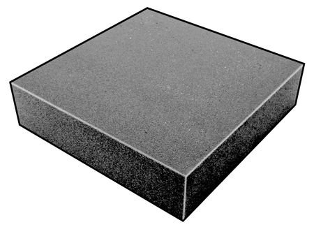 Foam Sheet, 200100 Poly, Charcoal, 4x24x24