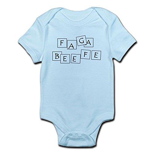 CafePress FAGABEEFE Infant Bodysuit - Cute Infant Bodysuit Baby Romper - Blues Clues Blue Romper