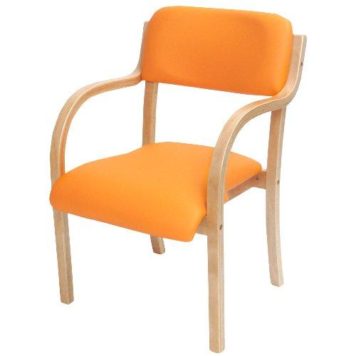 ダイニングチェア 完成品 ダイニングチェアー 北欧 スタッキングチェア 椅子 イス ETV-1-S (オレンジ) B01KSW7I7C オレンジ オレンジ