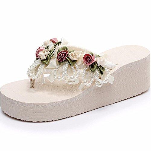 moda scarpe toe lady trainare antiscivolo Semplice di a piscina Spiaggia pizzico fondo YMFIE scarpe spesso respirato q7ftxIwfU