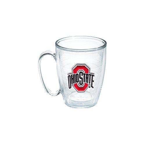 Emblem Mug - Tervis 1048842 Ohio State University Emblem Individual Mug, 16 oz, Clear