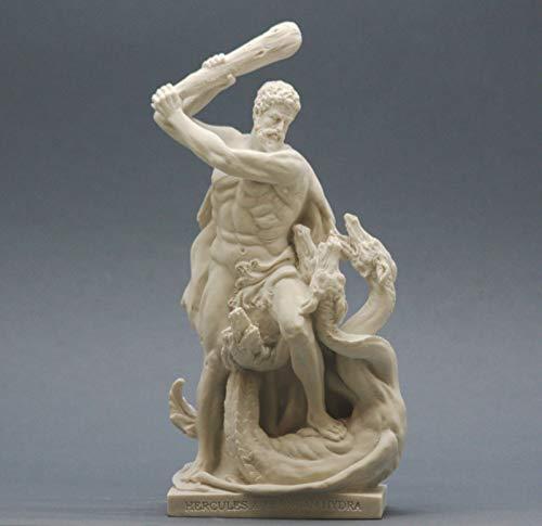 Desconocido Figura de Hidra Hidra fundida de mármol de Hercules y Lernaea de Griego Semi Dios de 20,32 cm