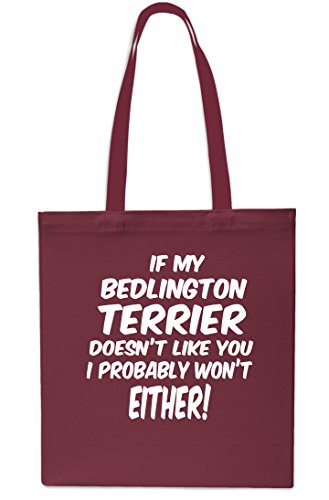 Won't Like Beach 10 Shopping Either You Probably MAROON 42cm I SAPPHIRE x38cm Bedlington Terrier My Doesn't If Tote Gym litres Bag OW8TAFI