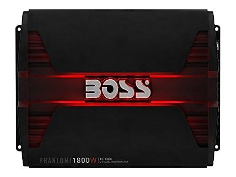 BOSS Audio PF1800 Phantom 1800 Watt, 4 Channel, 2/4 Ohm Stable Class A/B, Full Range, Bridgeable, MOSFET Car Amplifier with Remote Subwoofer (2004 Dodge Ram Audio)