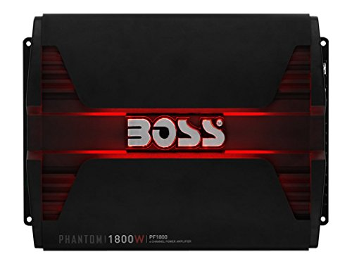 BOSS Audio PF1800 Phantom 1800 Watt, 4 Channel, 2/4 Ohm Stable Class A/B, Full Range, Bridgeable, MOSFET Car Amplifier with Remote Subwoofer Control - 1980 Sub