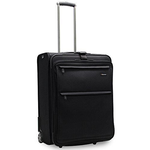 Pathfinder Revolution Plus 25 Inch Expandable Business Wheeled Upright with Suiter, Black, One Size