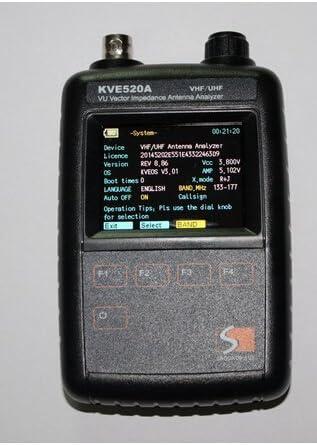 SINOSHON KVE 520 Un gráfico vectorial Color Impedancia Antena ...