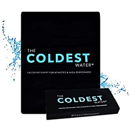 The Coldest Ice Pack Large Flexible Gel Ice Pack and Wrap Specific for Cold Therapy – Ice Pack for Back Leg Sprains, Muscle Pain, Bruises, Injuries – 11″ x 14″ (Black)…