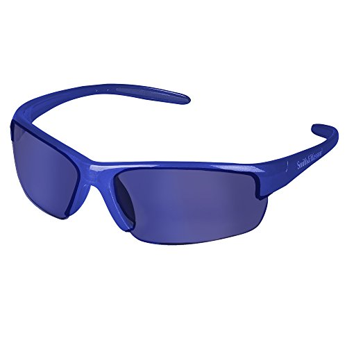 Smith and Wesson Safety Glasses (21301), Equalizer Safety Eyewear, Blue Mirror Lens, Blue Frame, 12 Pairs/Case