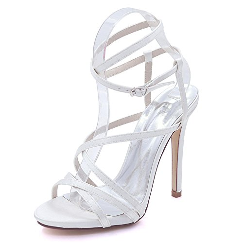 L@YC Womens Open Toe Wedding Platform High Heel 7216-02 Sandals Party Dress Court Shoes Sizes 3-8 White zi5z1vr