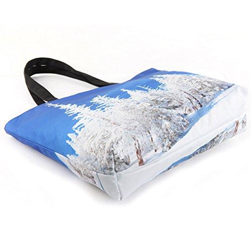 Thenice Damen-Schultertasche, moderner Retro-Druck, Einkaufstasche Cedar