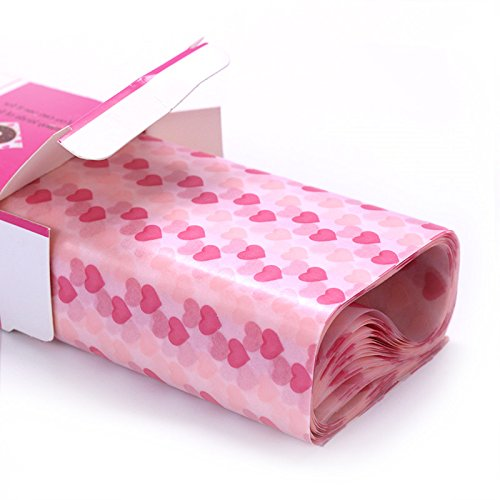 Wax Paper,Food Picnic Paper,50 sheets Grease Proof Paper,Waterproof Dry Hamburger Paper Liners Wrapping Tissue for Plastic Food Basket By Meleg Otthon(Heart-shaped - Basket Romance Cookie