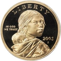 2003 S PROOF Native American $ From proof set Gem Proof Sacagawea Dollar