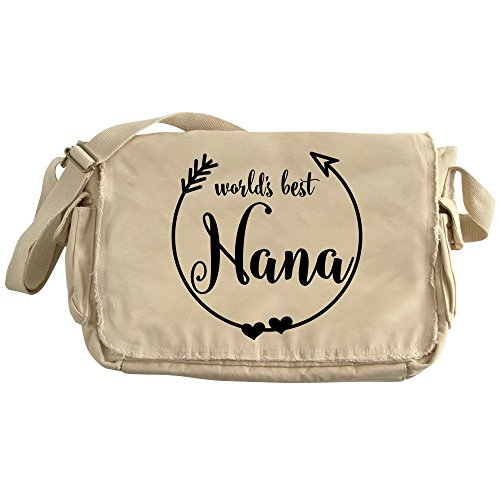 CafePress - World's Best Nana - Unique Messenger Bag, Canvas Courier Bag by CafePress