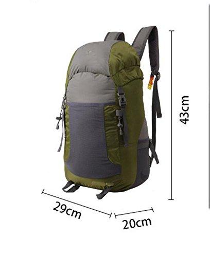 Alpinismo Al Aire Libre Mochila De Viaje 35L,Lightgray purple