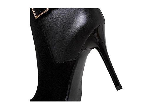 wdjjjnnnv Zipper High Heel Buckle Ankle Boots Women's Bootie 39 DgxcTOg