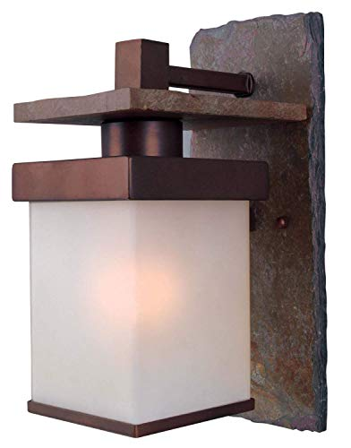 Kenroy Home 70281COP Boulder Outdoor Wall Lantern, Small, Natural Slate with Copper Finish