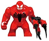 Toxin 3 inch mini figure compatible building blocks, Venom and carnage offspring collectible figure, spider-man villain