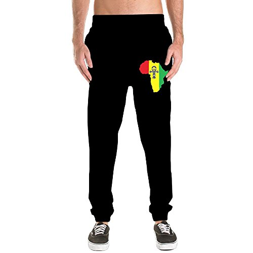 Ankh African Colored Africa Closed Bottom Sweatpants Sport Elastic Long Pants Workout Activewear by HOTCTDS