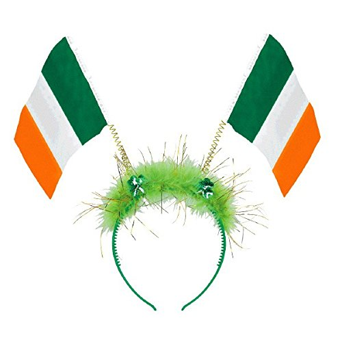 Amscan St. Patrick's Day Irish Flag Plastic and Marabou Bopper Costume Party Head Wear Accessory (Pack of 1), Multicolor, 10 1/4