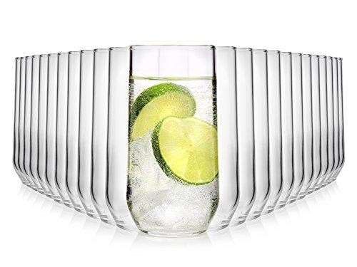 Bluespoon Gläser Set 24 teilig   Füllmenge 250 ml   Ein Glas für alle Getränke - Softdrinks, Wasser, Säfte, Longdrinks   Gastronomiegeeignet