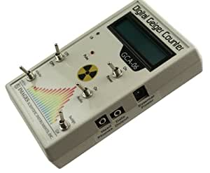 GCA-06 Professional Geiger Counter - Nuclear Radiation Detection Monitor with Digital Meter and Internal GM Tube - NRC Certification Ready- 0.001 mR/hr Resolution -- 1000 mR/hr Range