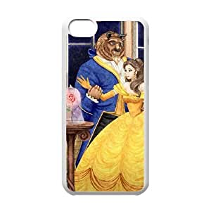 iphone5c White phone case Disney Cartoon Beauty and the Beast EYB7276774