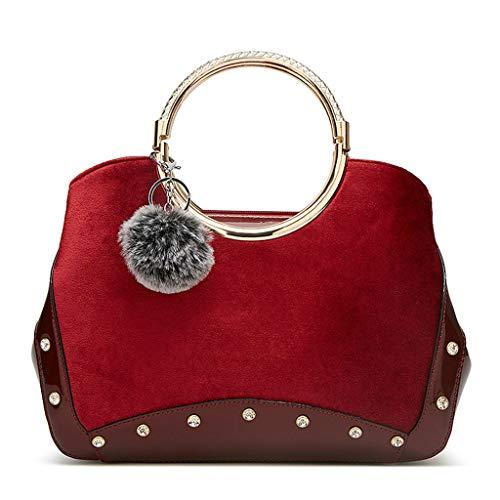 Cuigu Bordeaux 28x13x22cm Pour Femme Pochette Rouge rwnpRgrq1z