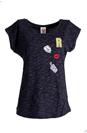 Forever Dark Gray Round Neck T-Shirt For Women