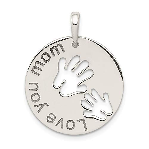 925 Sterling Silver Love You Mom Pendant Charm Necklace Fine Jewelry Gifts For Women For Her