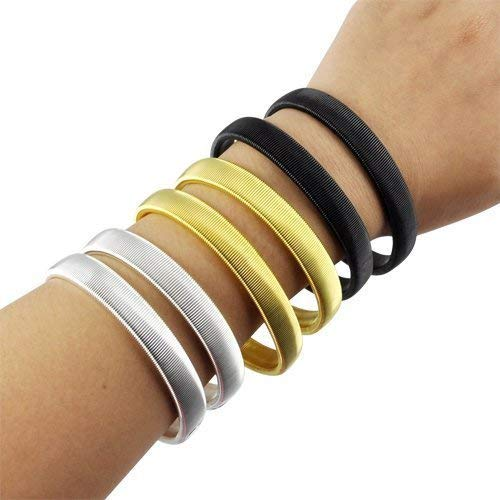 Anti-slip Metal Shirt Sleeve Holders Armband Arm for Band Stretch Elastic 6 PCS