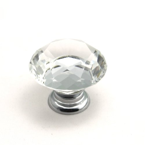 10 Clear Glass Crystal Sparkle Cabinet Drawer Door Pulls Knobs (Clear) - 5