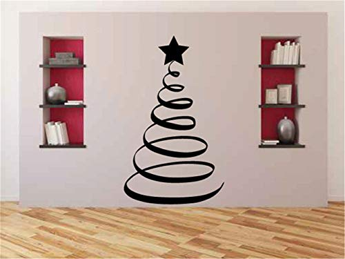 Quotes Wall Stickers Removable Vinyl Art Decal Tree Wall Decal Spiral Christmas Tree 7 Feet Tall Vinyl Wall Decal Sticker for Living Room Bedroom