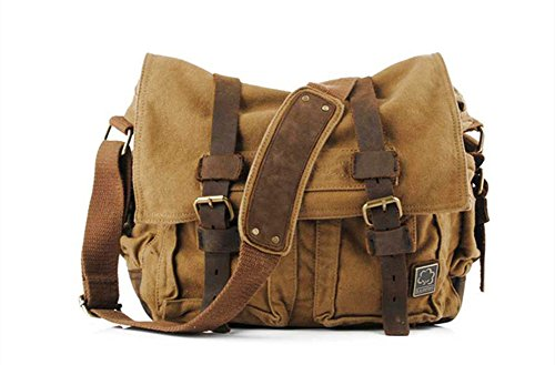Sechunk Canvas Leather Messenger