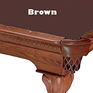 8u0027 Brown ProLine Classic 303 Billiard Pool Table Cloth Felt
