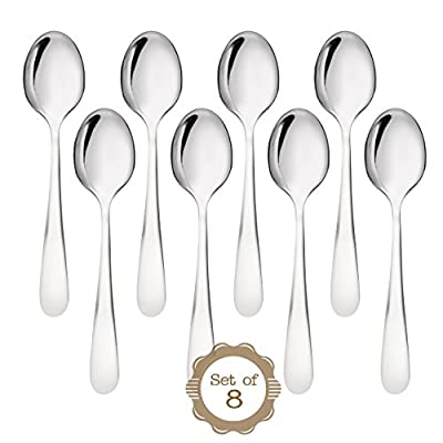 ONUBU Demitasse Espresso Spoons - Bistro Stainless Steel Spoons Compliment all Flatware Sets. 18-10 Chromium Nickel for Maximum Shine and Strength. High Quality Specialty Flatware with Lifetime Guarantee from ONUBU