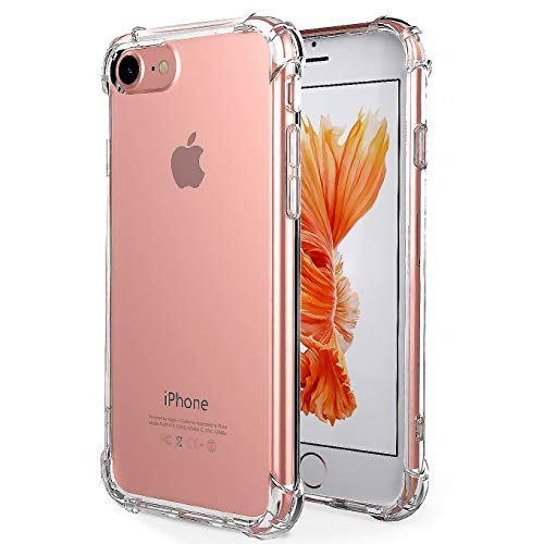 iBarbe Premium Slim Fit Case for iPhone 7,iPhone 8, Crystal clear Perfect slim Fit Shockproof Protective Impact Resistant Anti-scratches Heavy Duty Protection TPU Bumper Cover for iPhone 7/8 4.7