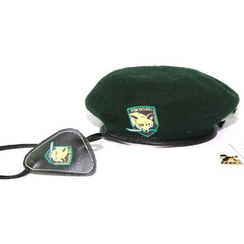 New Cool MGS5 Snake Eyepatch and Beret for Hot Game Cosplay