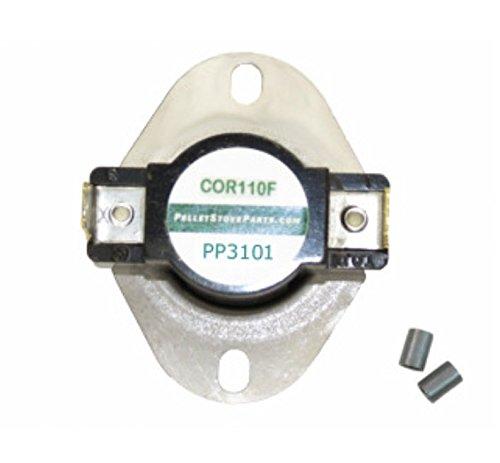 PelletStovePro - EnviroFire Enviro Pellet Stoves Fan Temp Sensor Switch Disc Blower Switch 160F EF-013 Ef Stove