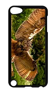 Ipod 5 Case,MOKSHOP Awesome owl wings Hard Case Protective Shell Cell Phone Cover For Ipod 5 - PC Black